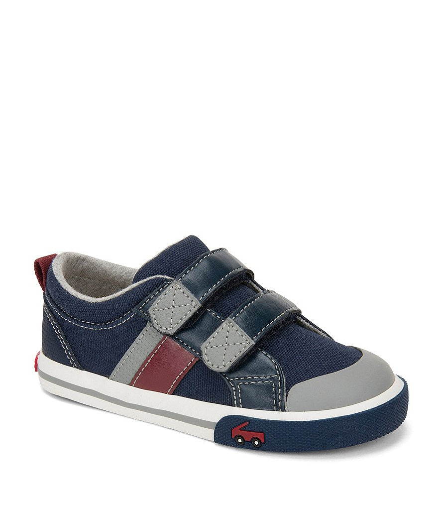 See Kai Run Boys' Russell Sneakers - Navy/Red