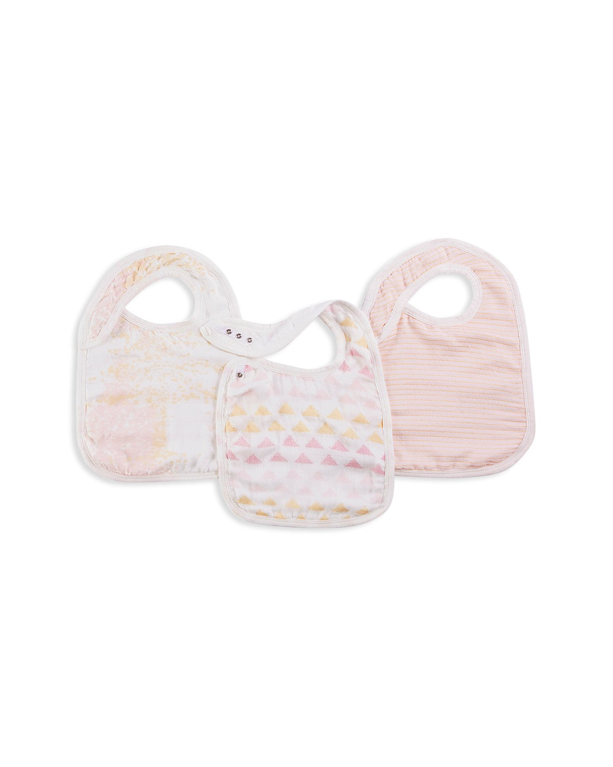 Aden and Anais Metallic-Print Bibs, 3 Pack