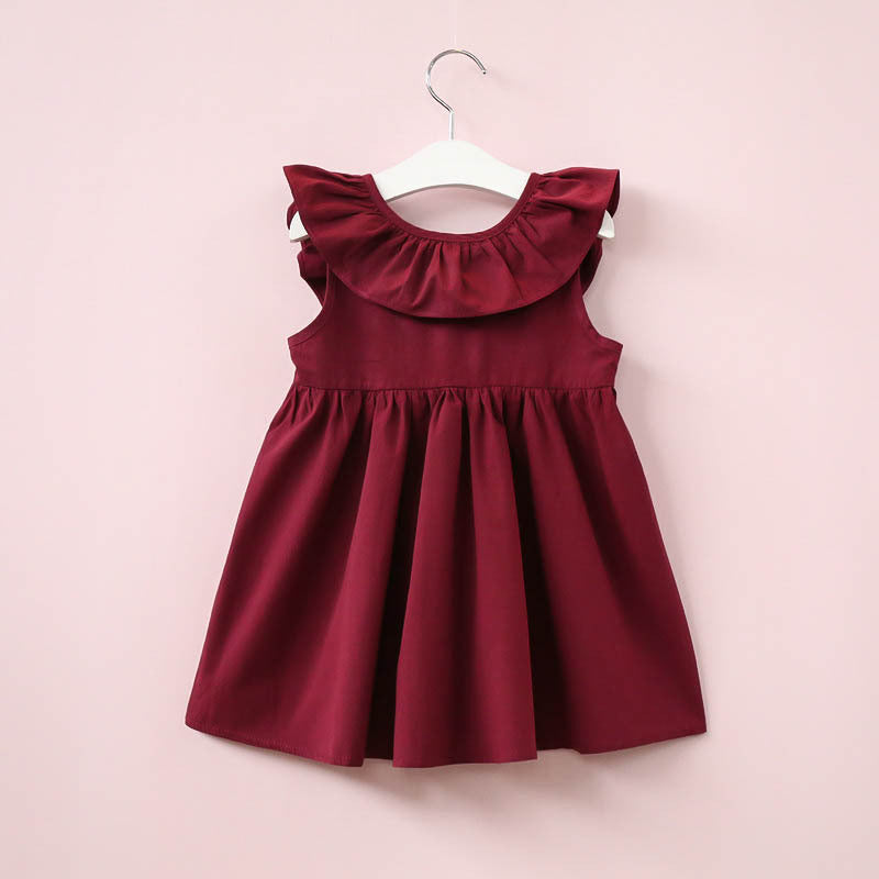 Fly Sleeve  Bow Dress