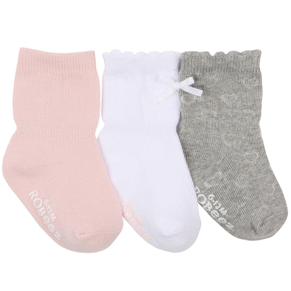 Robeez Girly Girl Basics Socks, 3-Pack