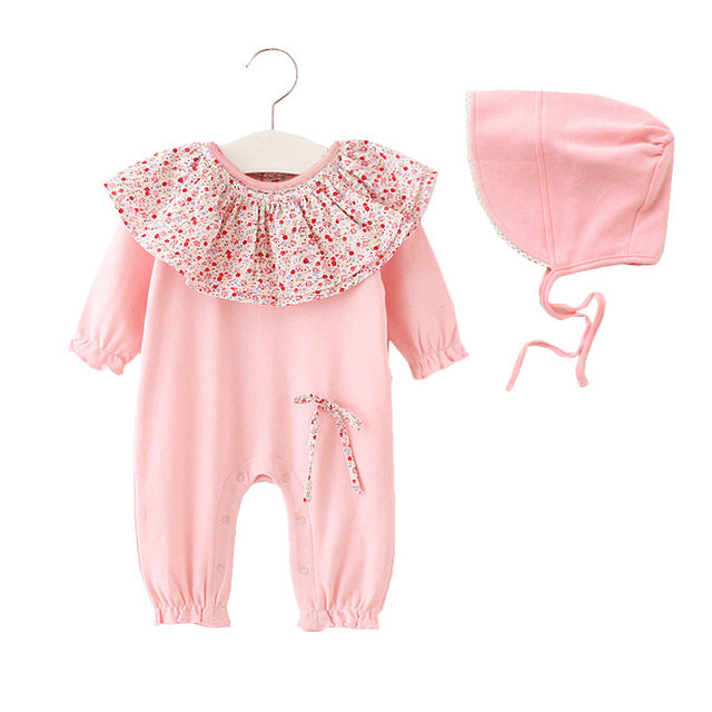 Garden Romper and Bonnet