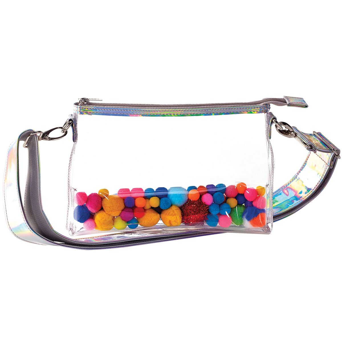 Pom Poms Clear Belt Bag