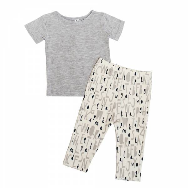 Earth Baby Outfitters Bamboo Short Sleeve Pajama Set