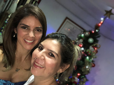 Alexandra and her mom