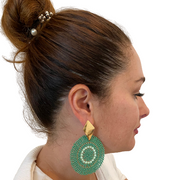 Sourced from Colombia: Beaded Statement Earrings