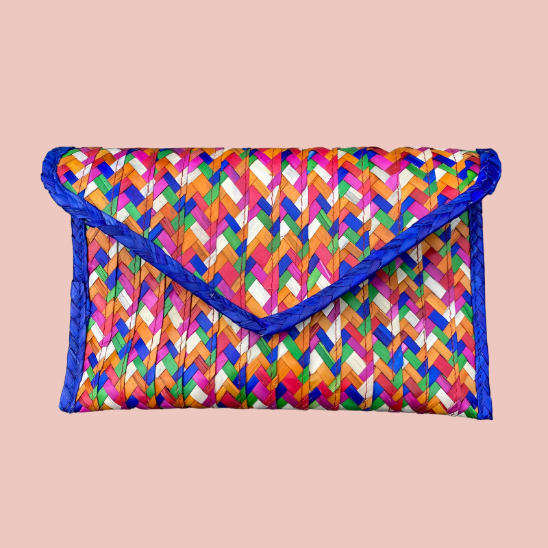 Malinalli Art You Can Wear Colorful Clutch