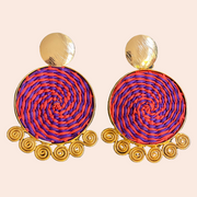 Sourced from Colombia: Gold Accented Woven Earrings