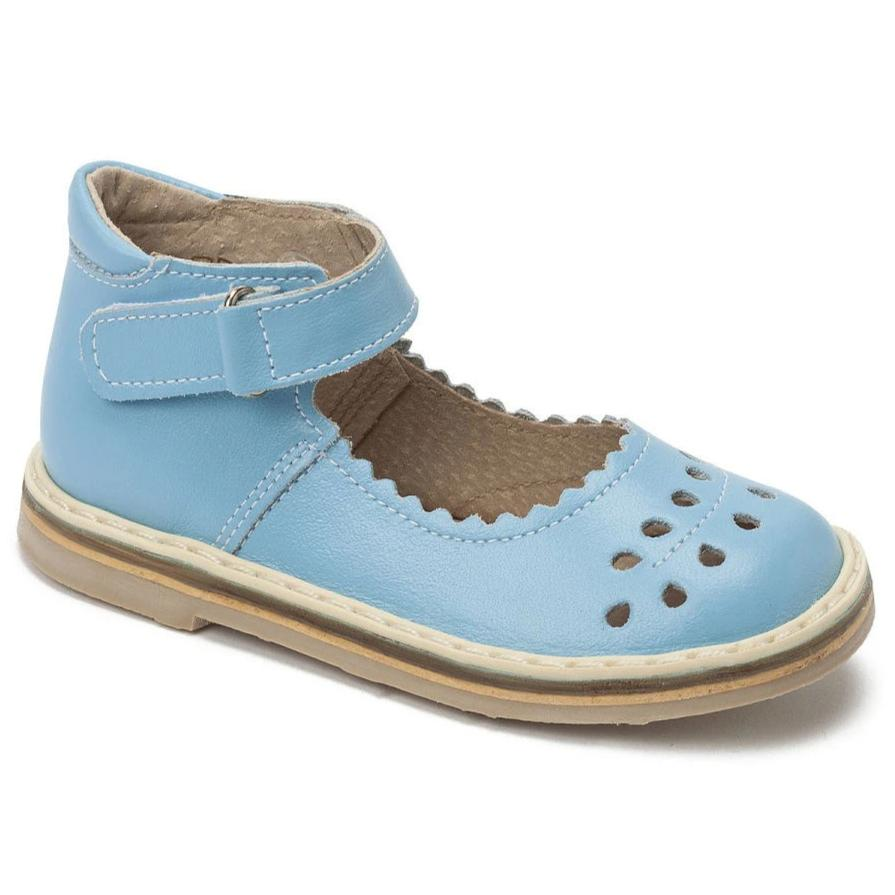 girls leather shoes mary jane, carolina blue, orthopedic shoes, school shoes, livie ans luca, san sans, plae, boden,  closed toe