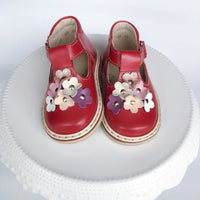 """Blooms"" T-strap Red"