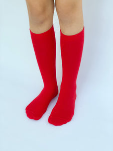 Knee high socks  solid Red