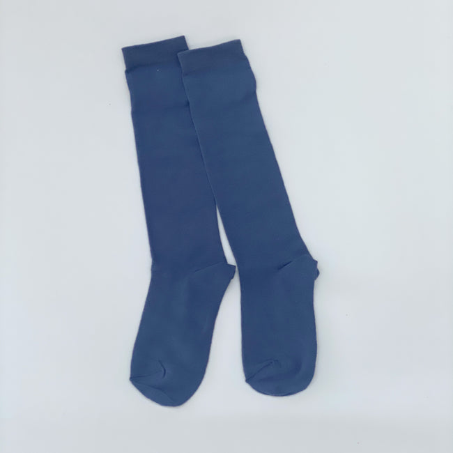 Knee high socks solid Denim