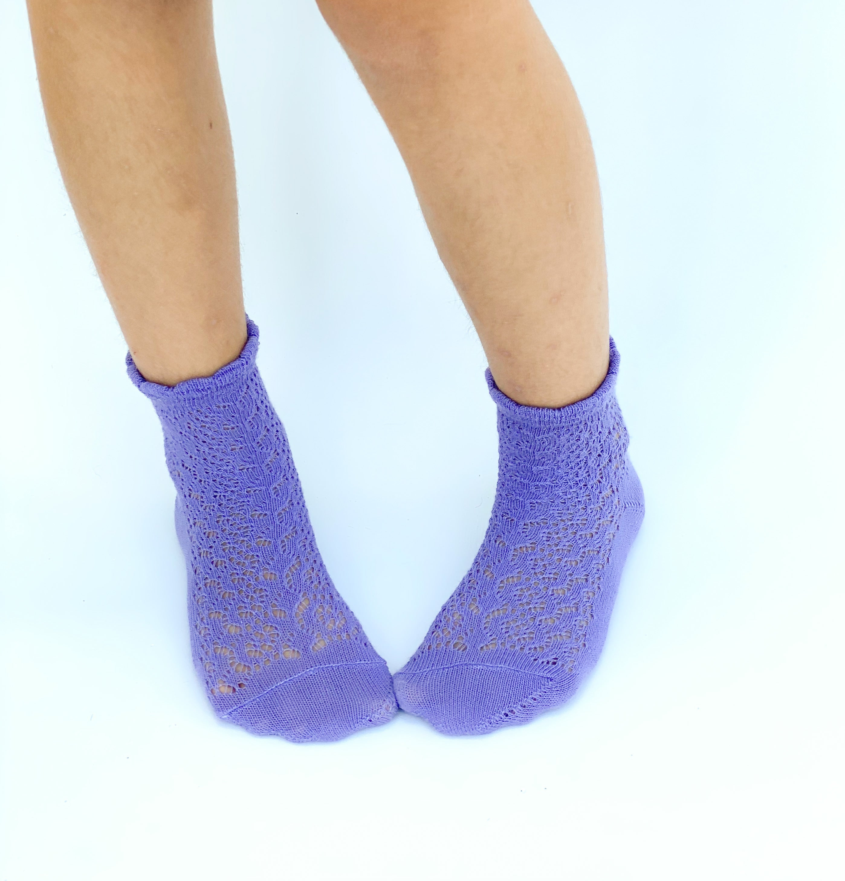 Anklet Socks crochet Purple