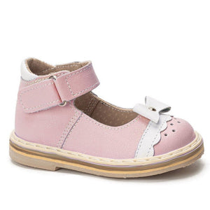 """Pretty bow"" Mary Jane Baby Pink"