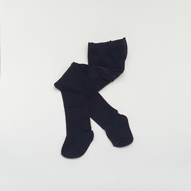 Solid stockings.  Midnight blue
