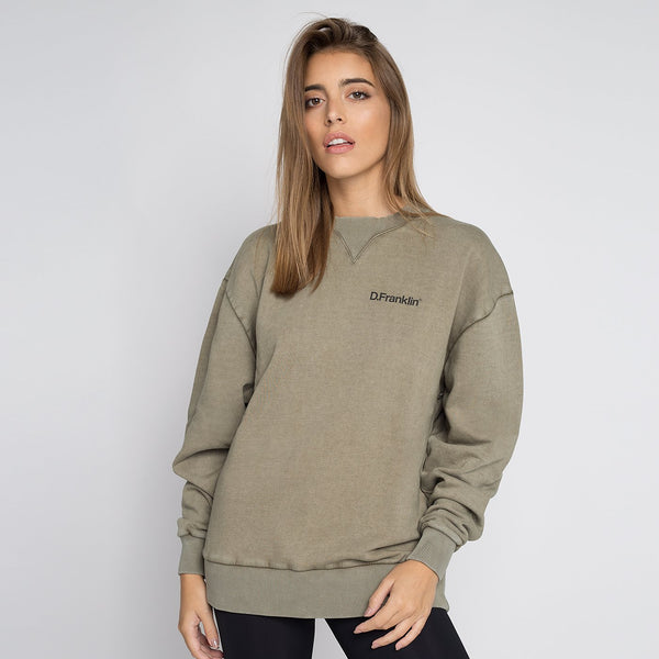 Sweatshirt Oversized Basic Khaki