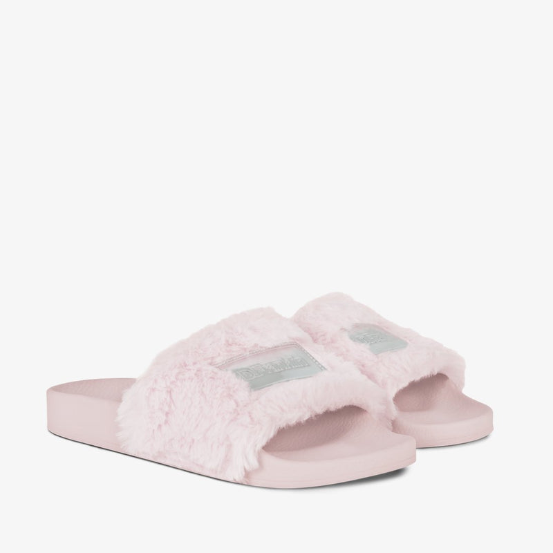 Label Fur Slides Pink