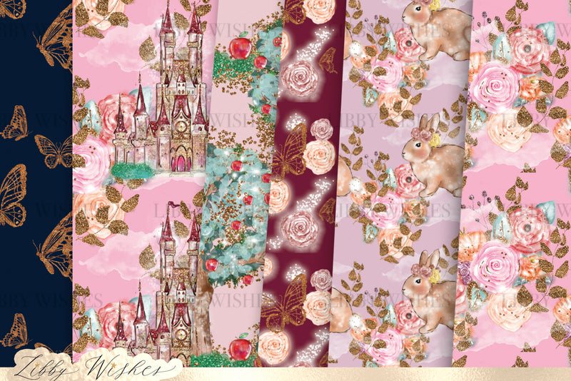 Autumn Fairytale Autumn Fall digital seamless Paper set