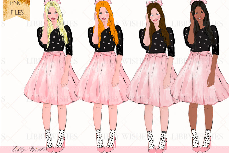 Pretty in Paris Fashion Clipart