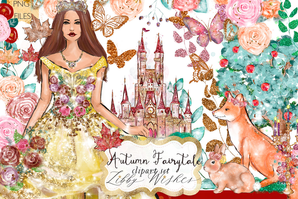 Autumn fairytale Clipart set