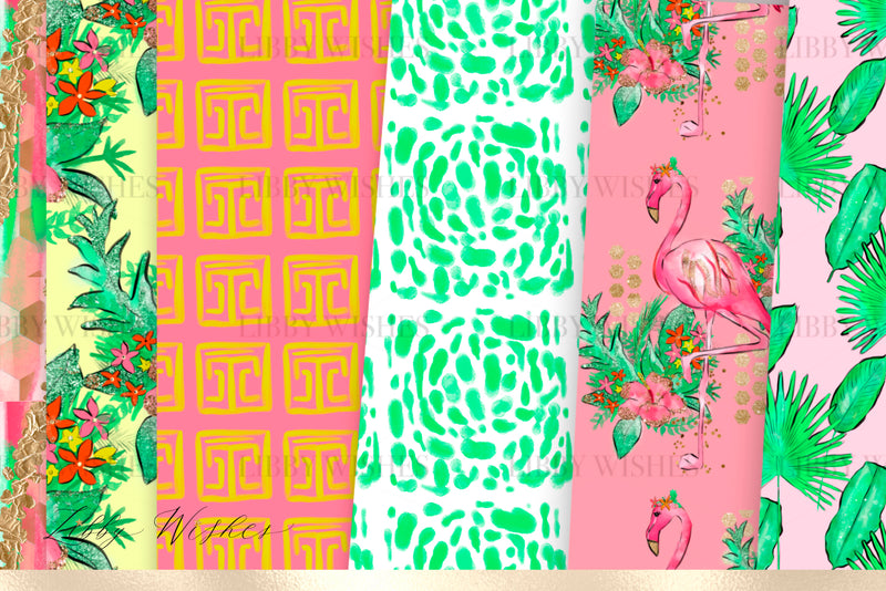 Palm Springs digital Paper set