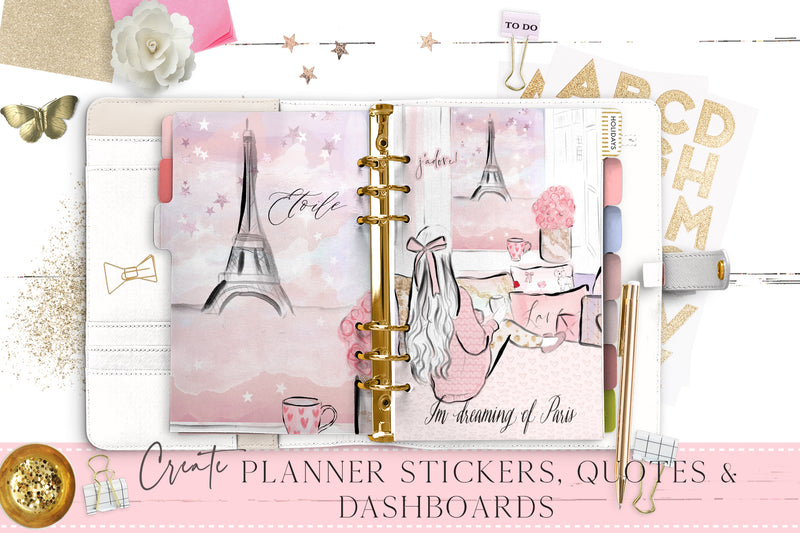 "Full scence clipart ""Cosy in Paris"""