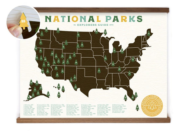 ELLO THERE NATIONAL PARKS MAP
