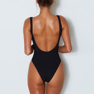 Ribbed hollow out swimwear