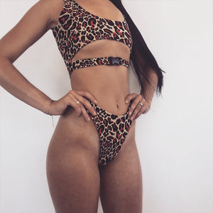 Brazilian buckle bikini set