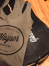 Load image into Gallery viewer, Warm Charcoal Hoyser Country Tank Top (Womens)