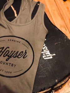 Warm Charcoal Hoyser Country Tank Top (Womens)