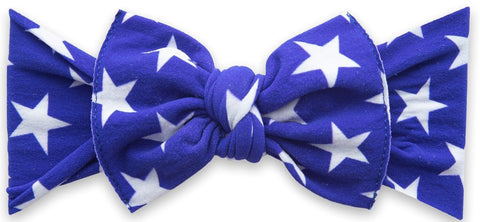 Baby Bling Royal Stars Printed Knot Headband
