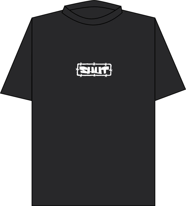SHUT Barb Tee Black