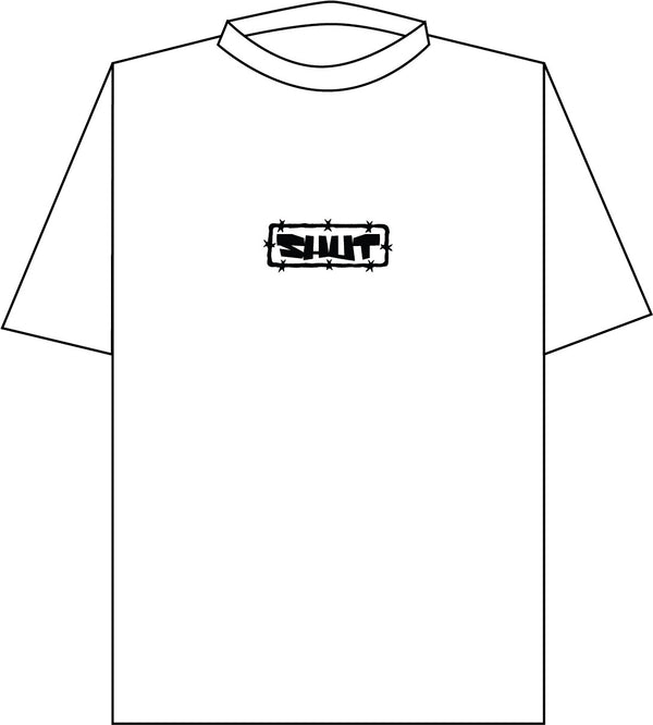 SHUT Barb Tee White