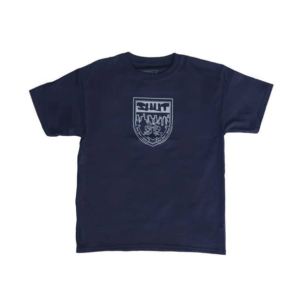 SHUT Junior Varsity Crest Youth Tee Navy