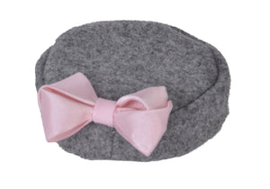 Heather Gray Pill Box Hat