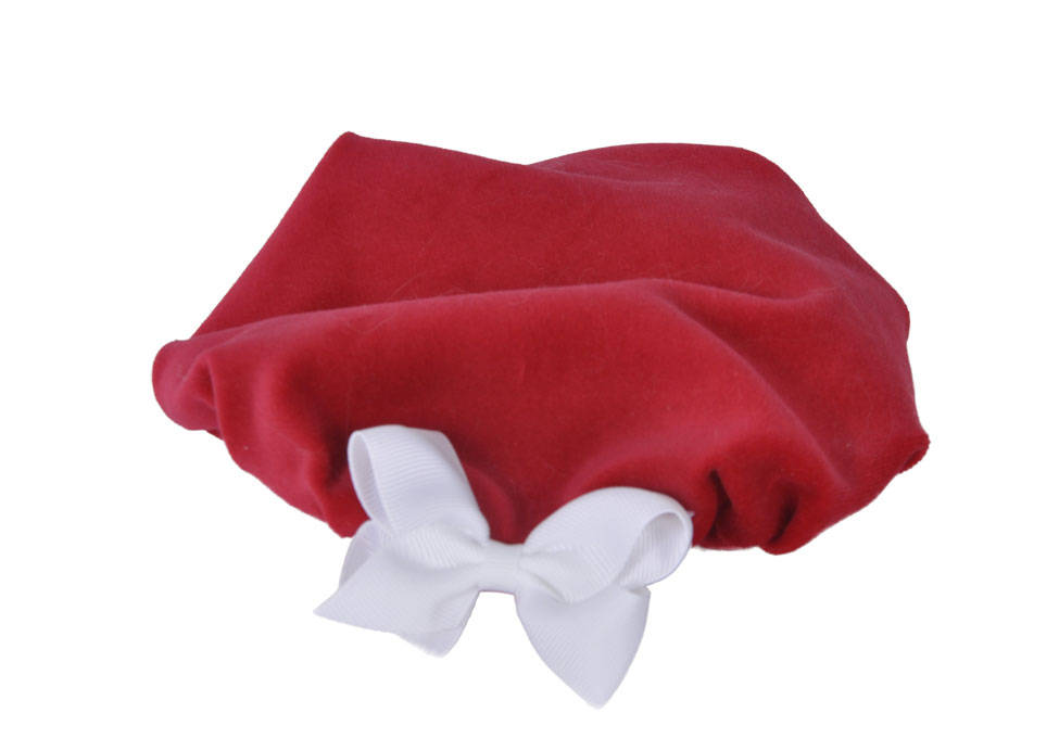 Red Velveteen Beret, Dog Hat