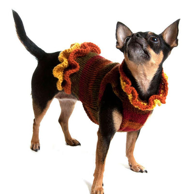 The Holly Sweater Dress- an Autumn Dog Dress