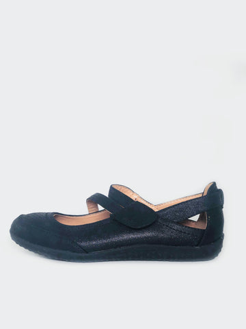 Straps - Comfortable Flats With Velcro Strap by Cherry Footwear