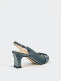 Glisten - Grey Ladies Evening Slingback by Clarice