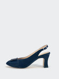 Glisten - Ladies Navy Slingback by Clarice
