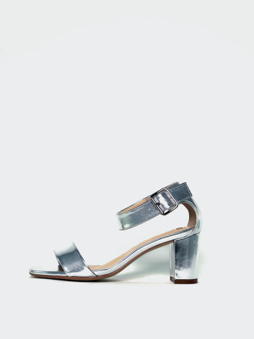 Anka - Silver Evening Shoes by Clarice