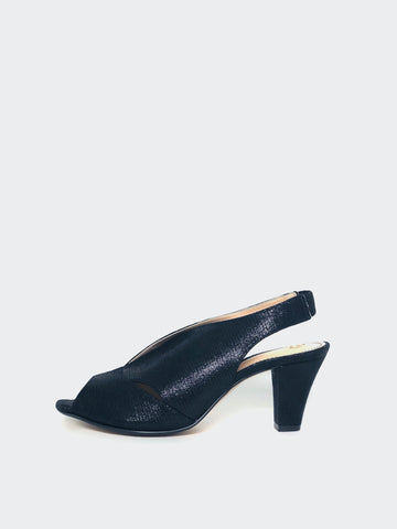Chez - Black Ladies Evening Shoe by Clarice