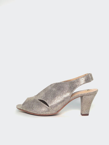 Chez - Gold Ladies Evening Shoe by Clarice