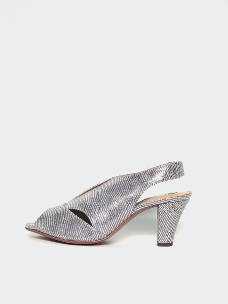 Chez - Silver Ladies Evening Shoe by Clarice