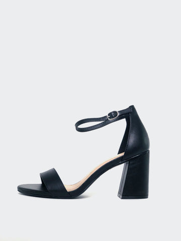 Crista - Black Block Heel
