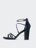 Wrap - Black Strappy Heel by Clarice