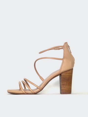 Wrap - Nude Strappy Heel by Clarice