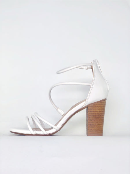 Wrap - White Strappy Heel by Clarice