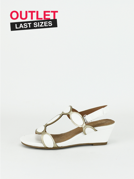 Holiday - White Comfortable Wedge Sandal By Step On Air