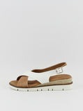 Rialto Ladies Comfort Sandal in White and Tan